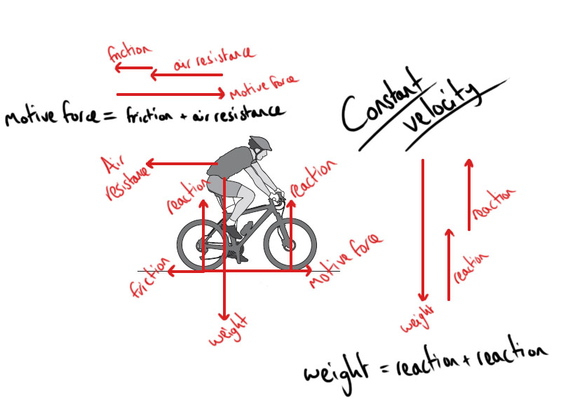 Awesome Forces Acting On A Bicycle Answers And Explanations Teach U Physics Wiring Digital Resources Funiwoestevosnl